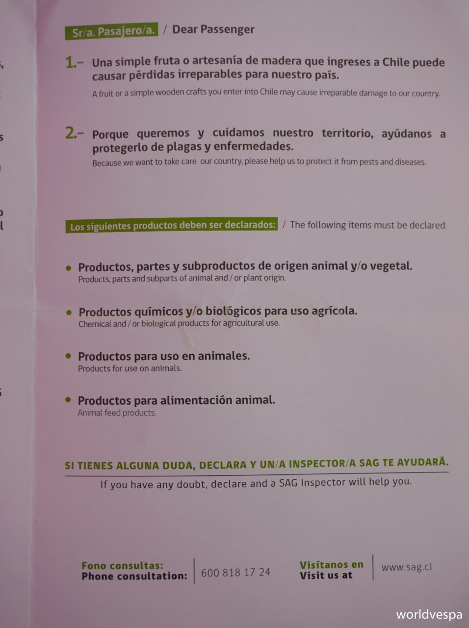 Chilean Customs