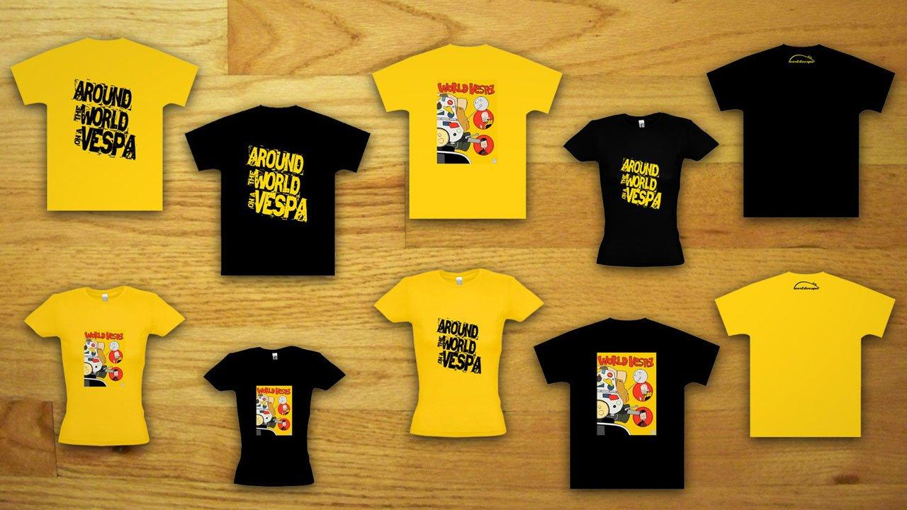ba9efca460fb Τα καινούργια μας μπλουζάκια! - Worldvespa