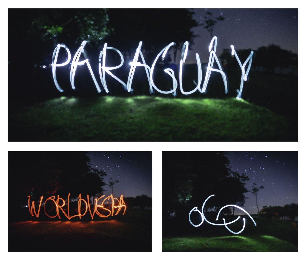 rohayhu paraguay lightpainting