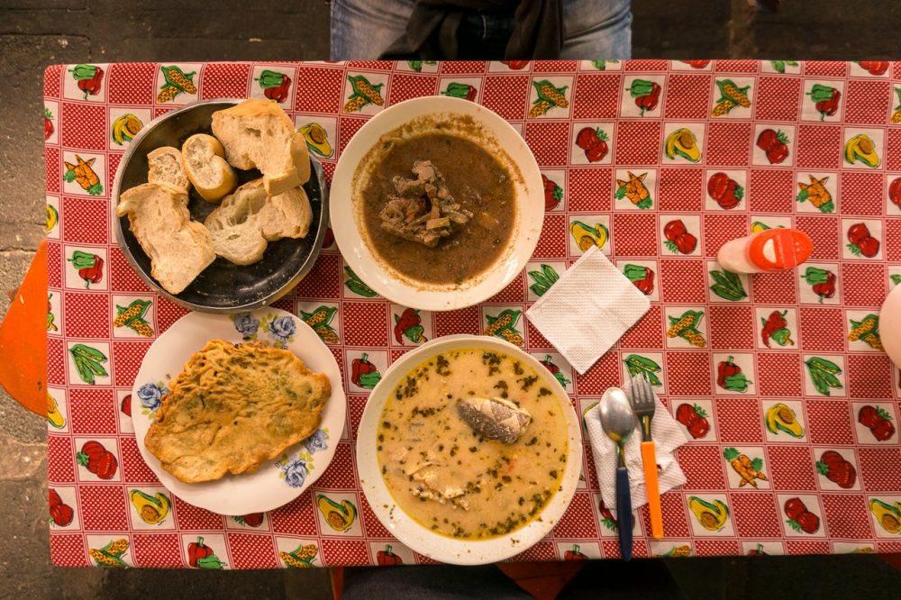 Tortilla y sopa de surubi - Paraguay favorite recipes / Παραγουάη αγαπημένα πιάτα