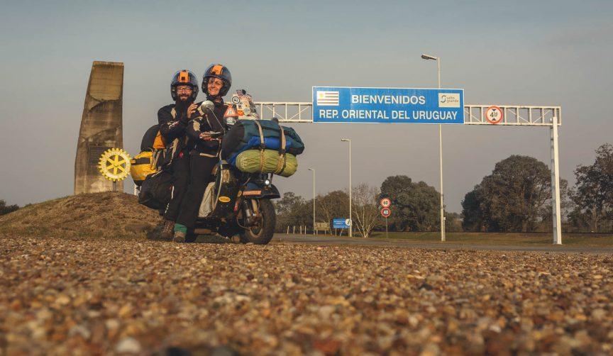 Vespa scooter in Uruguay