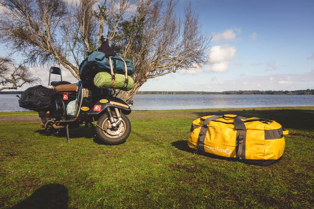 redfox duffel bag motorcycle trip